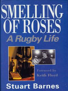 Stuart Barnes signed rugby autobiography book cover
