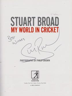 Stuart-Broad-autograph-signed-autobiography-book-my-world-in-cricket-memorabilia-england-test-match-fast-bowler-notts-ccc-signature-first-edition-2012