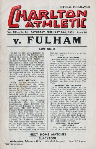 Stuart-Leary-autograph-Charlton-Athletic-football-memorabilia-signed-programme-1953-Fulham-Addicks-Kent-Cricket-KCCC-ken-chamberlain-signature