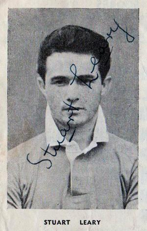 Stuart-Leary-autograph-Charlton-Athletic-football-memorabilia-signed-programme-1953-v-Fulham-portrait-picture-signature-Kent-Cricket-KCCC