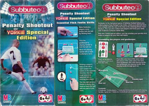 Subbuteo Yorkies Penalty Shoot Out table football game
