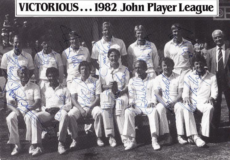 Sussex-CCC-cricket-memorabilia-team-photo-signed-1982-John-Player-champions-Le-Roux-Mendis-Greig-Gould-Wells-Parker-Sharks-1250