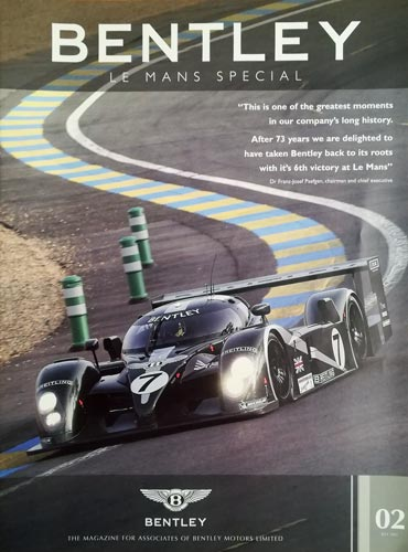 Team-Bentley-2003-Le-Mans-Special-booklet-magazine-associates-edition-driver-profiles-car-specifications