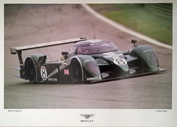Team-Bentley-2003-Le-Mans-Speed-8-car-Number-8-poster