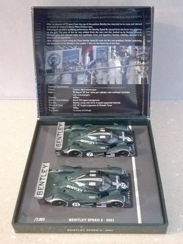 Team-Bentley-2003-Le-Mans-champion-Speed-8-cars-No-7-Number-8-pauls-world-art-minichamps-double-winner-set-1-43-scale-die-cast-metal-model