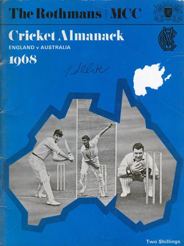 Ted-Dexter-autograph-signed-Sussex-cricket-memorabilia-England-test-match-captain-1968-Ashes-preview-Rothmans-booklet