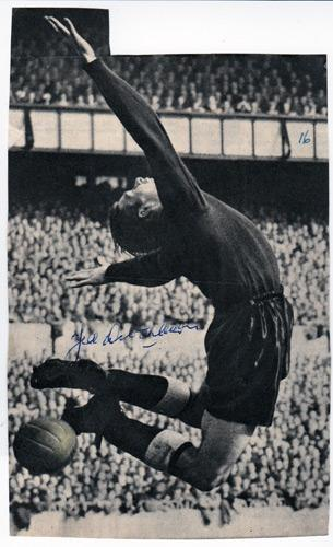 Ted-Ditchburn-autograph-signed-Spurs-football-memorabilia-Tottenham-Hotspur-goalkeeper-goalie-1950s-England-Lilywhites-Edwin-White-Hart-Lane