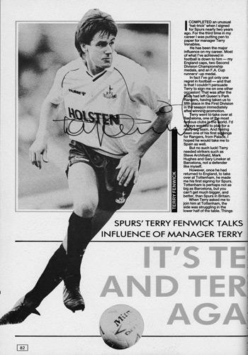 Terry-Fenwick-signed-Spurs-fc-football-memorabilia-topical-times-annual-autograph-Tottenham-Hotspur-soccer