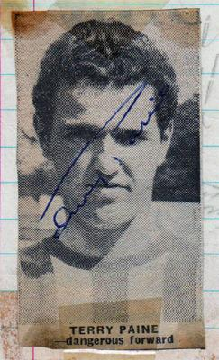 Terry-Paine-autograph-signed-Southampton-FC-football-memorabilia-Soton-Saints-England-1966-World-Cup-player-cheltenham-town-manager