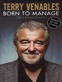 Terry-Venables-autograph-signed-England-football-memorabilia-Spurs-QPR-Barcelona-Crystal-Palace-manager-coach-el-tel-Leeds-United-autobiography-born-to-manage