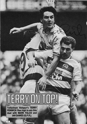 Tery-Fenwick-signed-Spurs-fc-football-memorabilia-topical-times-annual-autograph-Tottenham-Hotspur