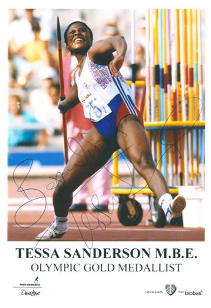 Tessa-Sanderson-autograph-signed-1984-los-angeles-olympics-javelin-memorabilia-gold-medal-olympic-champion-games-la-84-great-britain-gb