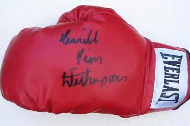 Tim-Witherspoon-signed-Everlast-boxing-glove-memorabilia-world-heavyweight-champion-terrible