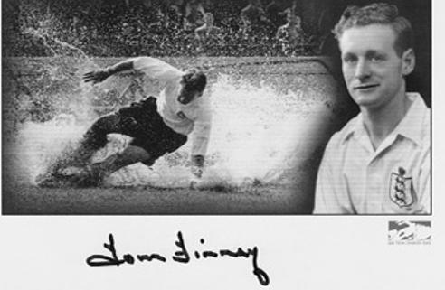 TOM FINNEY signed Preston North End Splash card