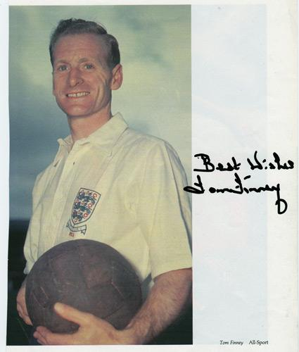 Tom-Finney-signed-Preston-North-End-fc-football-memorabilia-England-legend-autograph-Sir-signature-PNE