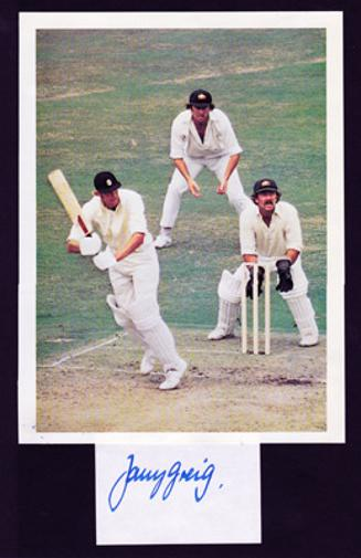 Tony-Greig-autograph-signed-Sussex-cricket-memorabilia-England-cricket-memorabilia-captain-CCC-World-Series-WSC-Packer-Grovel