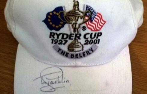 TONY JACKLIN signed 2001 Ryder Cup Belfry golf cap