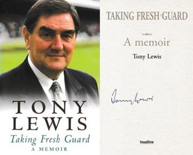 Tony-Lewis-autograph-signed-book-taking-fresh-guard-a-memoir-2003-first-edition-england-captain-glamorgan-signature-mcc-president