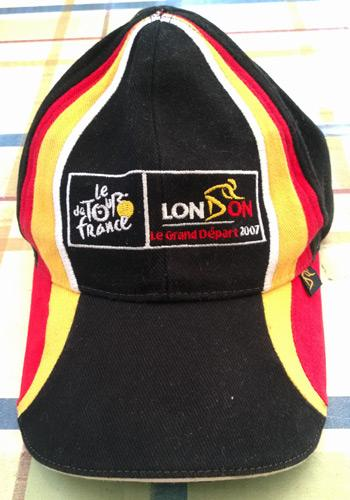 Tour-de-France-Cycling-memorabilia-cycling-le-grand-depart-London-2007-official-baseball-cap-cycle-maillot-jaune