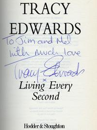 TRACY EDWARDS (Round the World sailor) signed autobiography