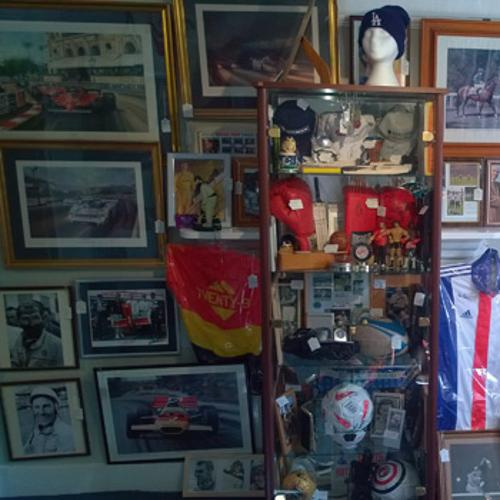 Uniquely Sporting Sports memorabilia shop store allsorts antiques headcorn high street kent