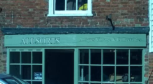 Uniquely-Sporting-Sports-Memorabilia-Store-Shop-Allsorts-Antiques-Vintage-and-Collectables-Headcorn-Kent-TN27-Front-Window