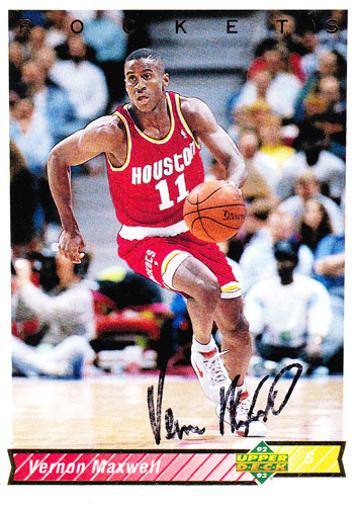 Vernon-Maxwell-signed-Houston-Rockets-NBA-trading-card-basketball-memorabilia