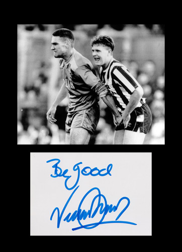 Vinnie-Jones-autograph-Wimbledon-football-memorabilia-chelsea-leeds-utd-Vincent-X-Men-Juggermaut-Gazza-signature-1988-FA-Cup-Newcastle-United-Be-Good