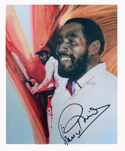 Viv-Richards-autograph-signed-West-Indies-cricket-memorabilia-Lords-Taverners-book-plate-picture-Somerset-CCC-Antigua-Sir-Vivian