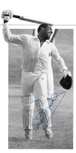 Viv-Richards-autograph-signed-west-indies-cricket-memorabilia-master-blaster-somerset-iva-antigua