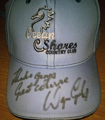 Wayne Grady signed Ocean Shores golf country club cap golfing memorabilia
