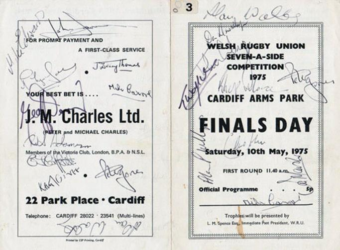Welsh-rugby-union-seven-a-side-competition-1975-cardiff-arms-park-finals-day-official-programme-may-1975-signed-John-Dawes-Alan-Phillips-Alan-Weekes-peter-jones