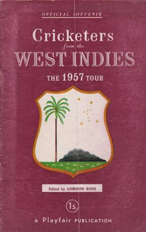 West-Indies-cricket-memorabilia-1957-tour-of-england-playfair-official-souvenir-guide-players-cricketers-sobers-weekes-worrell-walcott-hall-valentine-ramadhin-kanhai