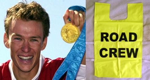 SIMON WHITFIELD (Olympic & Commonwealth Triathlon Champion) autographed Road Crew Tabard Olympics