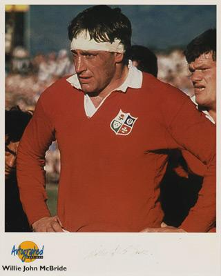 Willie-John-McBride-autograph-signed-British-Lions-rugby-memorabilia-Ireland-captain-1974-tour-south-africa-autographed-bio-career-history