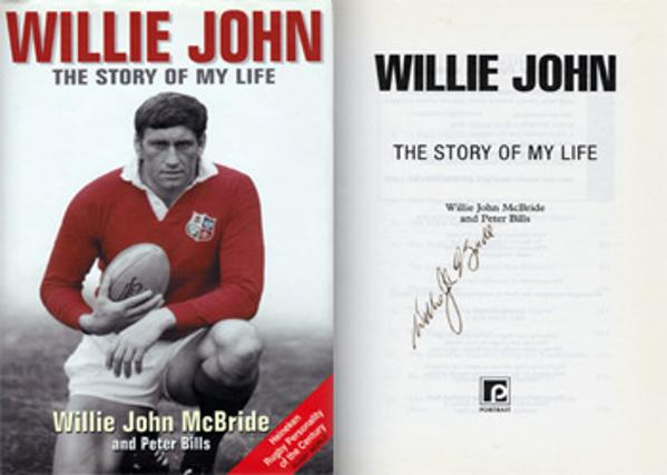 WILLIE JOHN McBRIDE memorabilia signed autobiography Story of my Life rugby memorabilia