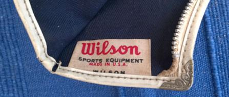 Wilson-tennis-memorabilia-vintage-racket-head-cover-plaid-zip-zpper-1960s-1970s-made-in-USA-sports-equipment-pouch-ball-cloth