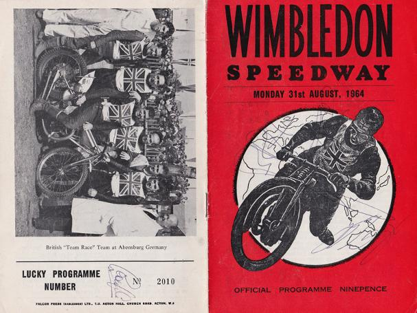 Wimbledon-Speedway-memorabilia-signed-programme-1964-Barry-Briggs-autograph