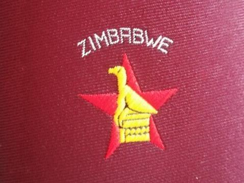 Zimbabwe-cricket-memorabilia-official-tour-tie-necktie-bird-insignia-fashion-mens-clothing-medallion-fine-neckwear-zcu-logo-union